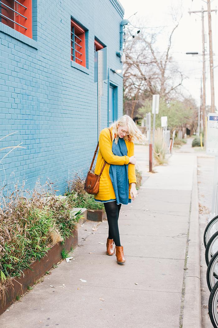 austin style blogger asos smock dress yellow sweater12