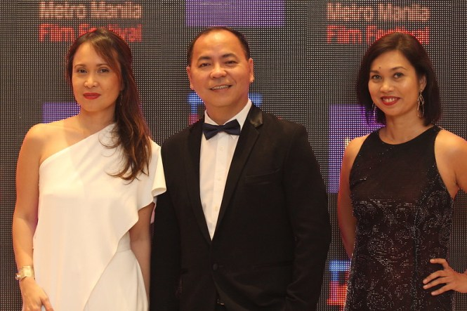 Red Carpet - L-R (HOOQ Country Manager, Jane Walker _ HOOQ Director of Content, Jeff Remigio _ HOOQ Marketing Head, Sheila Paul)