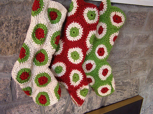 Polka Dot Christmas Stockings