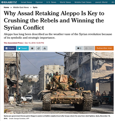 16l13 Aleppo Massacre U.S. and World Failed Syrians Giving Assad His Greatest Military Achievement