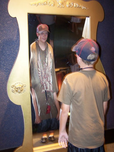 Fun House Mirrors Kirby Enjoying Fun House Mirrors