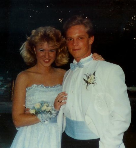 Scary 1980s Prom Picture Gary Looked Hot I Looked Blue