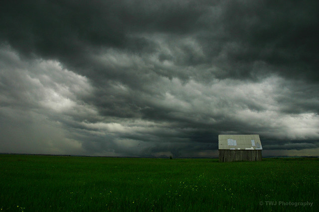 Barn Storming  Storm clouds over the Tantramar Marsh www