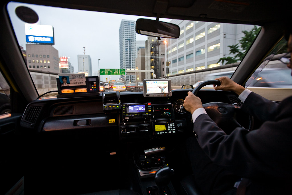Inside of Tokyo cab  Joi Ito  Flickr