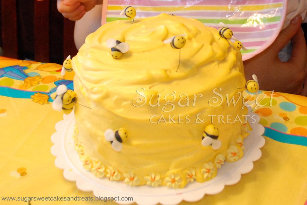 2008 07 Winnie The Pooh Beehive Smash Cake Bee Hive