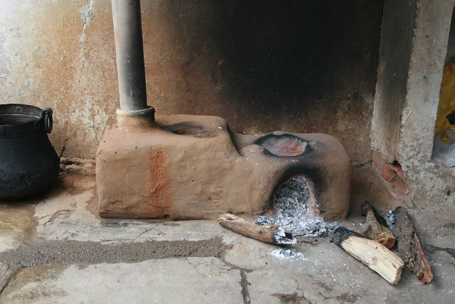 Traditional village firewood stove AP India