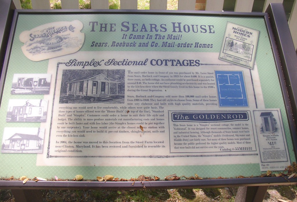 Sears Kit House Sign  Patuxent River Park Jug Bay Area