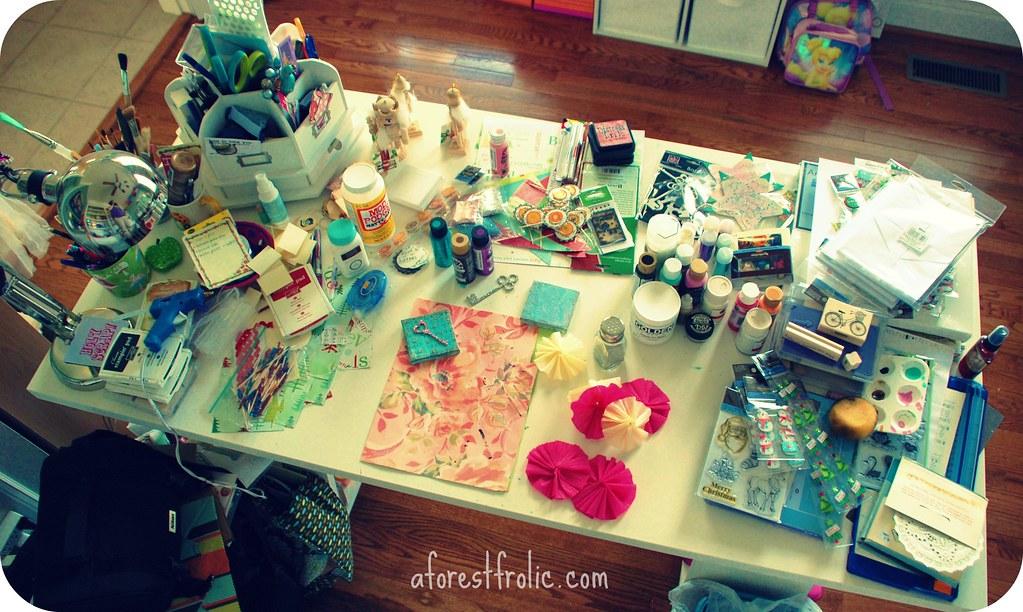 Messy Studio Work Desk  Someone help  GlitterandFrills