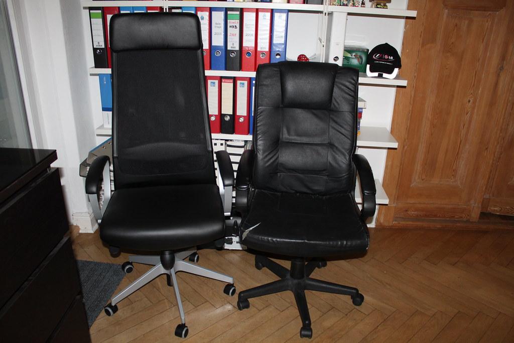 IKEA Brostuhl Markus und alter Chefsessel von Roller  Flickr