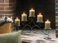 Yankee Candle Fireplace Pillar Holder | Warm the hearth ...