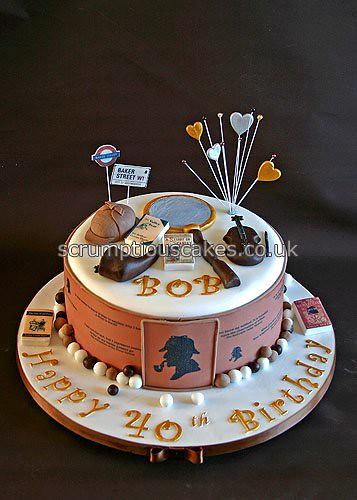 Birthday Cake 675 Sherlock Holmes Paula Jane Bourke