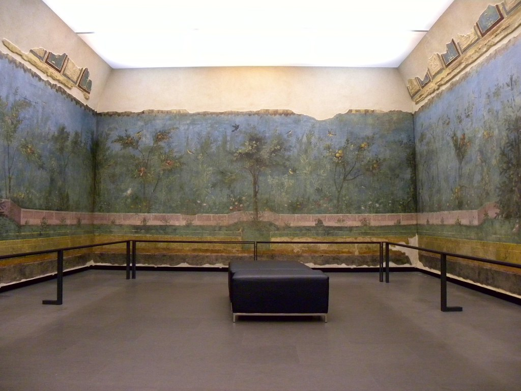 Garden room from the House of Livia  One half of the