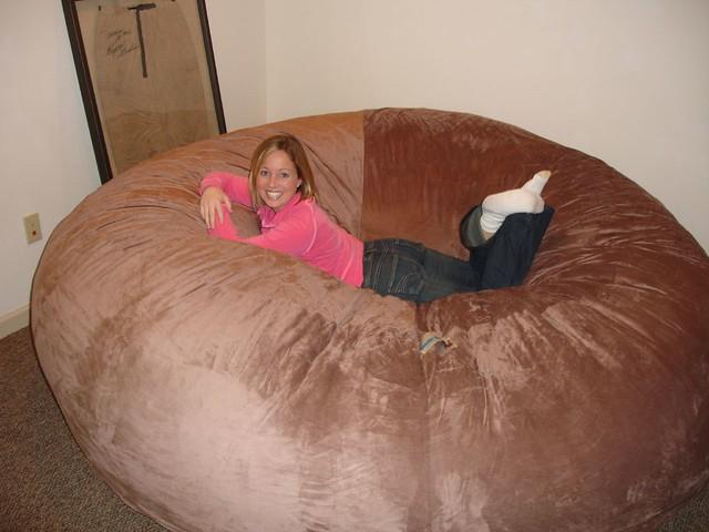 love sac chair medline transport huge bean bag lovesac comfy sack fombag | flickr