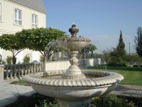 Front yard fountain | This fountain is in the garden out ...