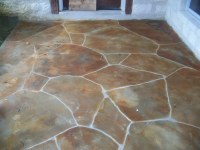 Faux flagstone overlay | faux flagstone overlay with multi ...