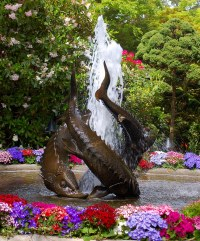 Fish Fountain | Fountain outside of Japanese Garden at ...