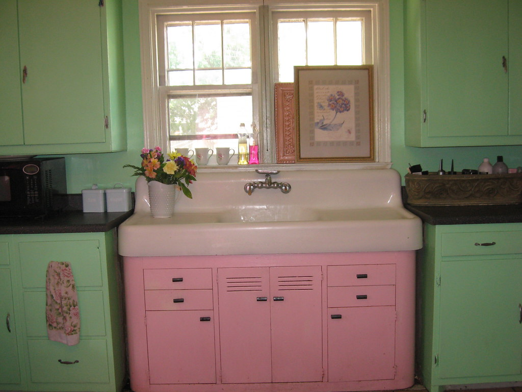 antique kitchen sinks automatic faucet vintage sink pink and green my favorite
