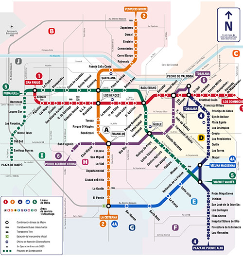 Plano Metro De Santiago A 2014  Esta Será Al 2014 2015