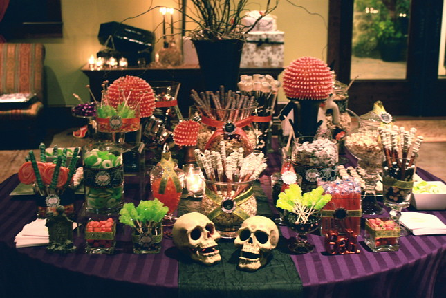 Halloween night wedding sweets table  Melissa and Justin we  Flickr