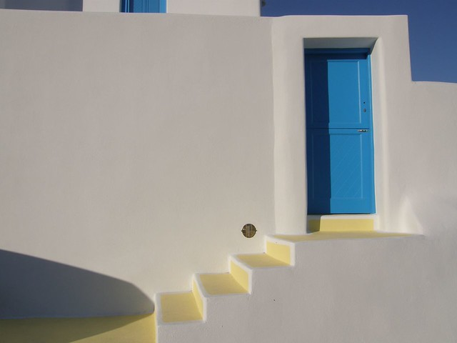 Blue Door  White Wall  Blue door and white wall at a