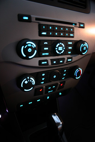 2008 Focus Interior Center Console Lights On Ford