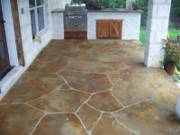 out door kitchen faux stone patio | faux stone overlay on ...