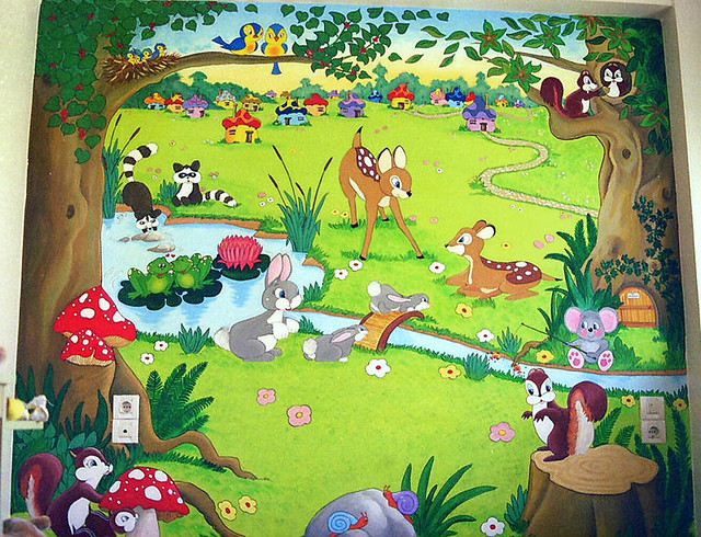 Animal forest Mural