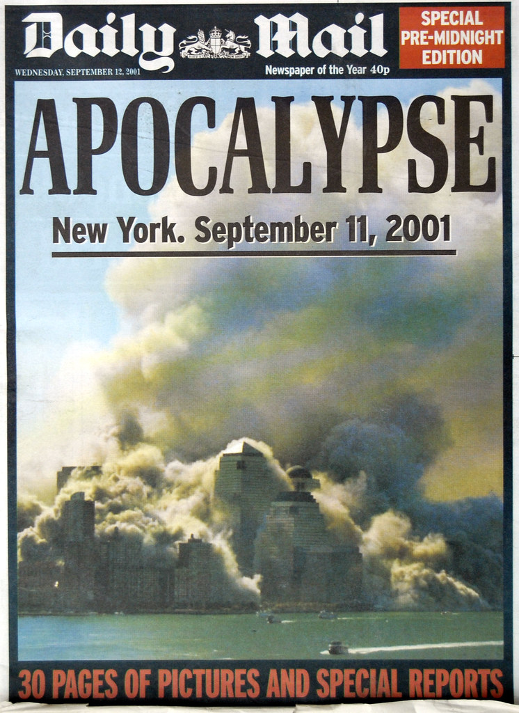 Daily Mail Front Page On September 12th 2001 I Was