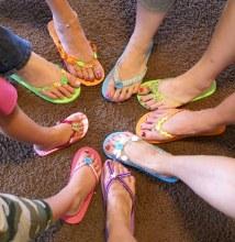 Flip Flops Bradley Girls Creative Decorating