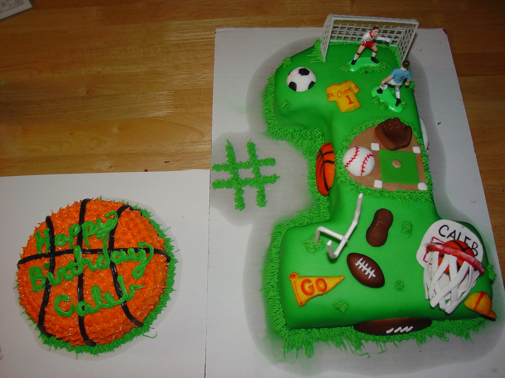 Boys Sports First Birthday Cake