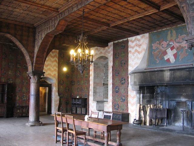Chateau De Chillon Switzerland Constable S Grand Hall