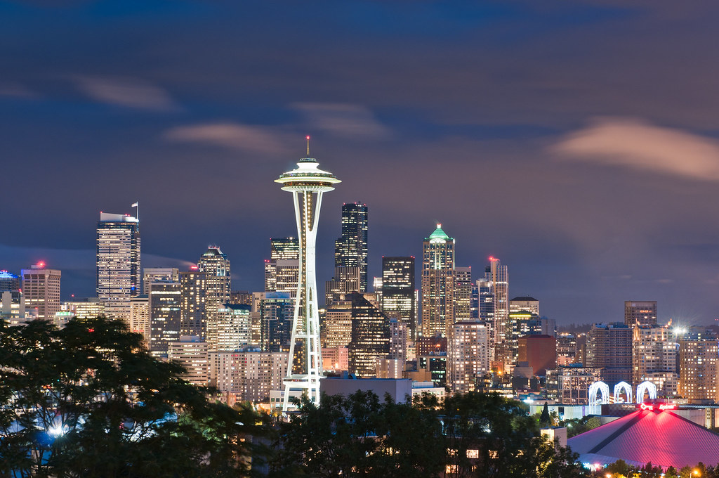 Wallpaper In Hd Images Seattle Skyline At Night This Way After Sunset Which