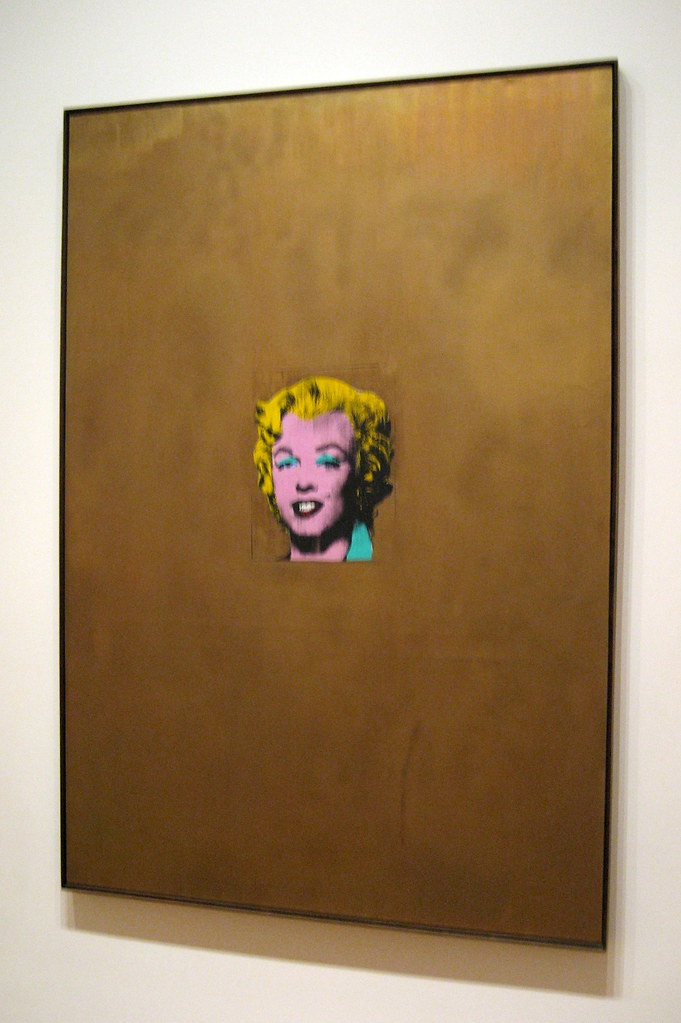 NYC  MoMA Andy Warhols Gold Marilyn Monroe  Andy Warhol  Flickr