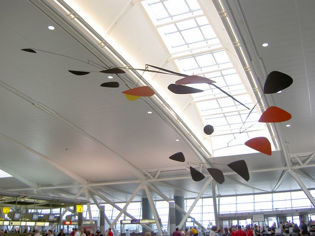 Flight by Alexander Calder  This famous mobile hangs in
