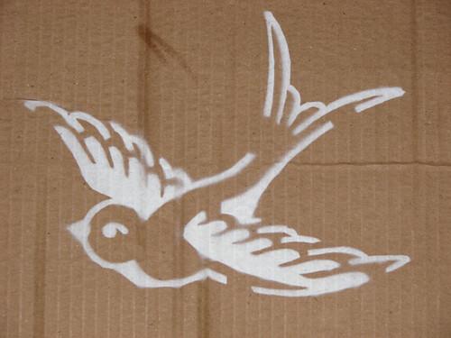 Swallow Stencil Sprayed I Sprayed My Stencil Today On