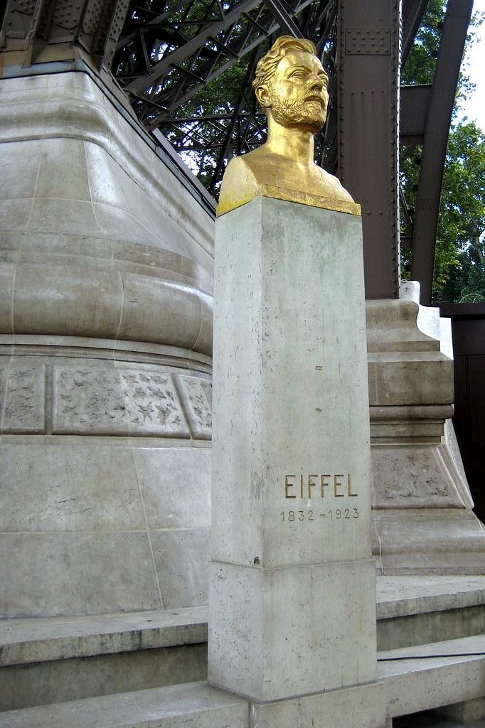 Paris Tour Eiffel Bust Of Gustave Eiffel This Gilt