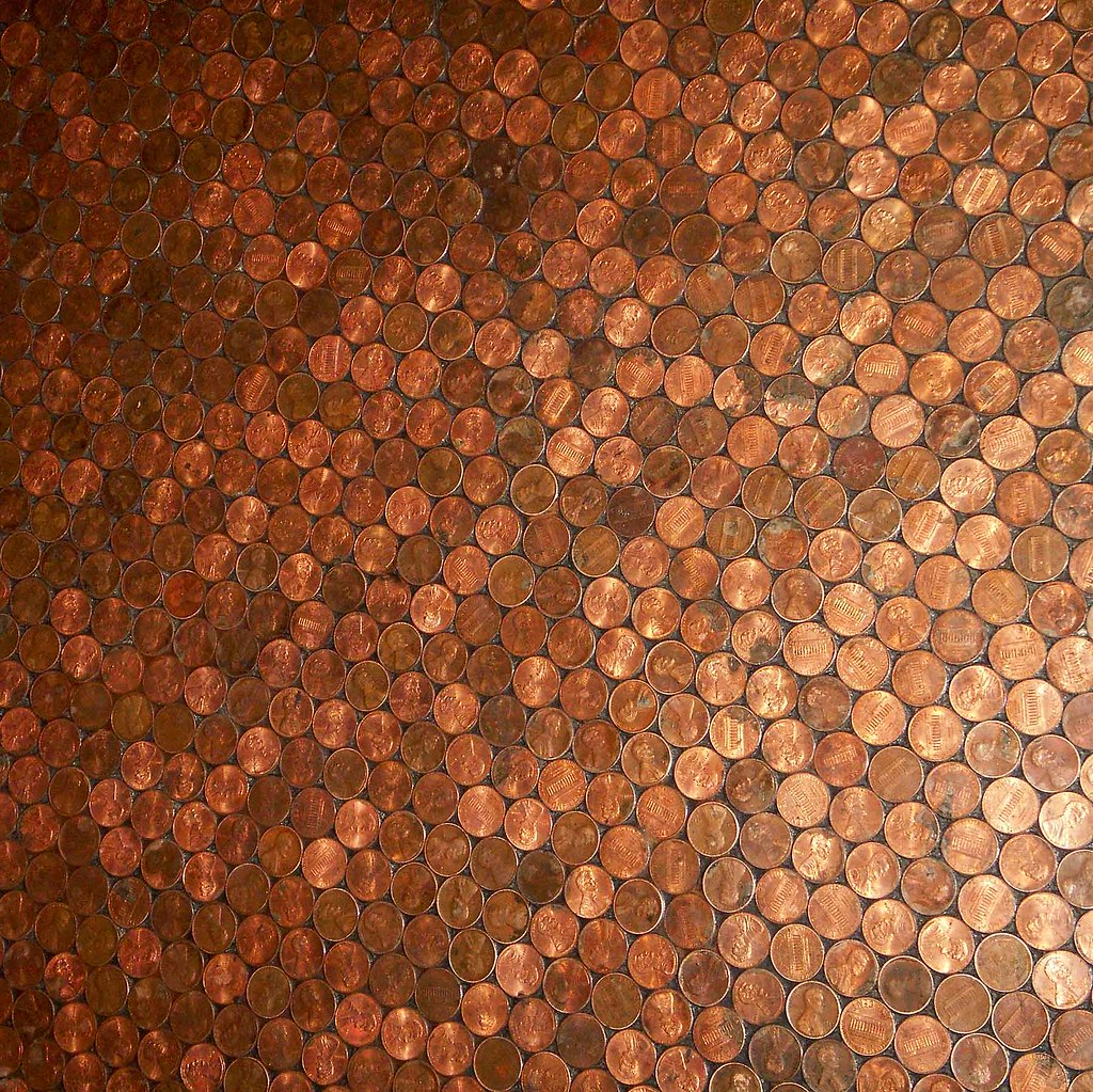 Penny Floor Hotel Congress  This floor made of pennies