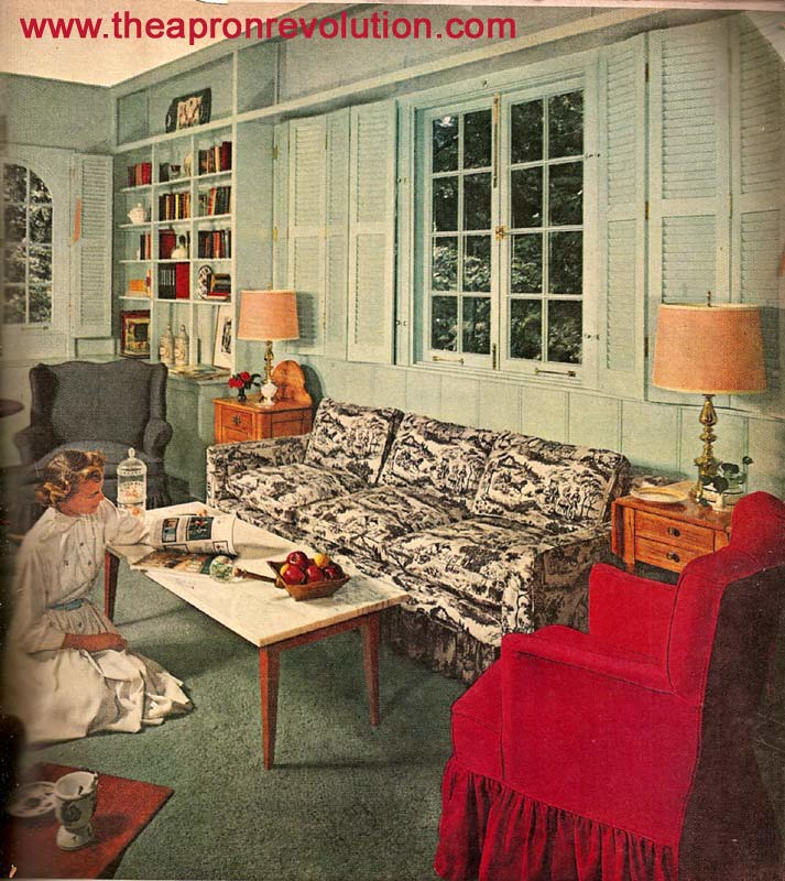 the sofa and chair company jobs corner couches with bed early american living room | this image is from a mid 1950 ...