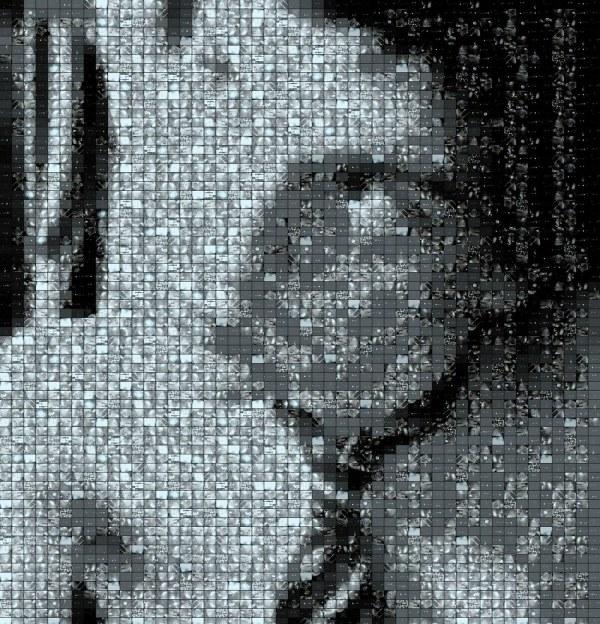 Dj In Tie - Fractal Mosaic Portrait &
