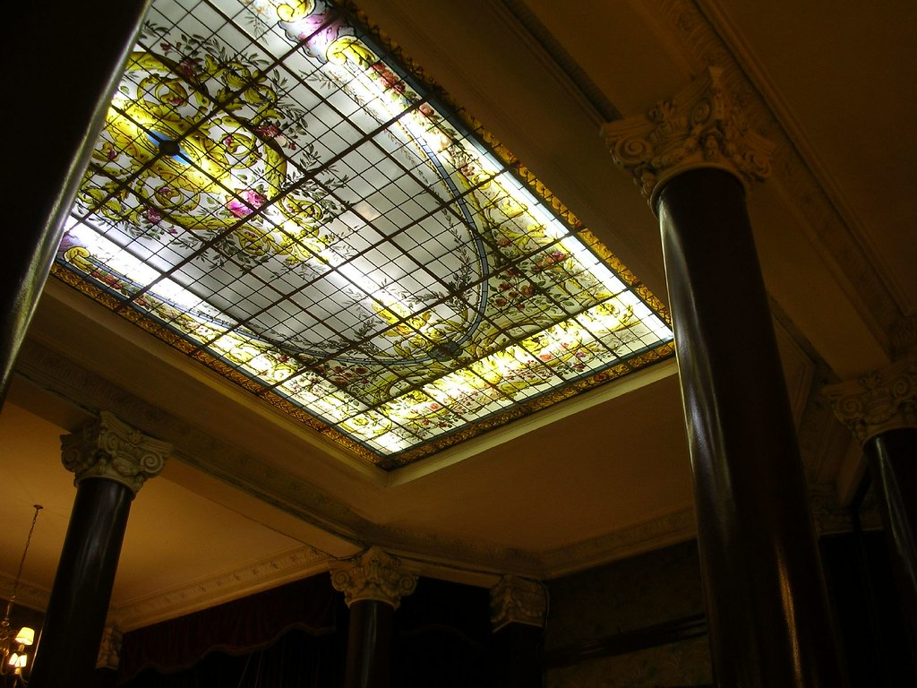 Beautiful Cafe Tortoni Stained Glass Ceiling  Richie