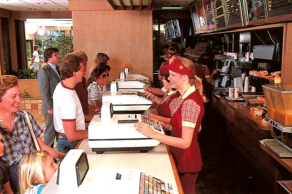 Burger King in 1984  This is a photo of Burger King