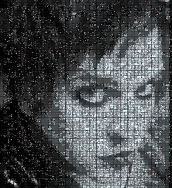 "Dj - Fractal Mosaic Portrait & ""shiny Disco"""
