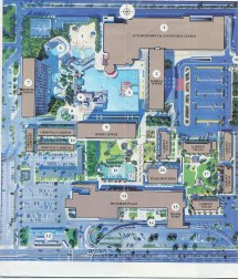 Map Of Disneyland Hotel Circa 1988