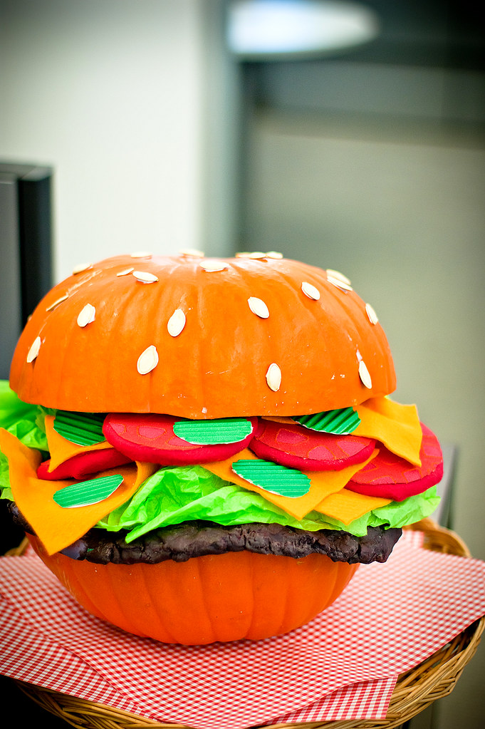 Hamburger Pumpkin HAPPY HALLOWEEN  2010 Kirksey