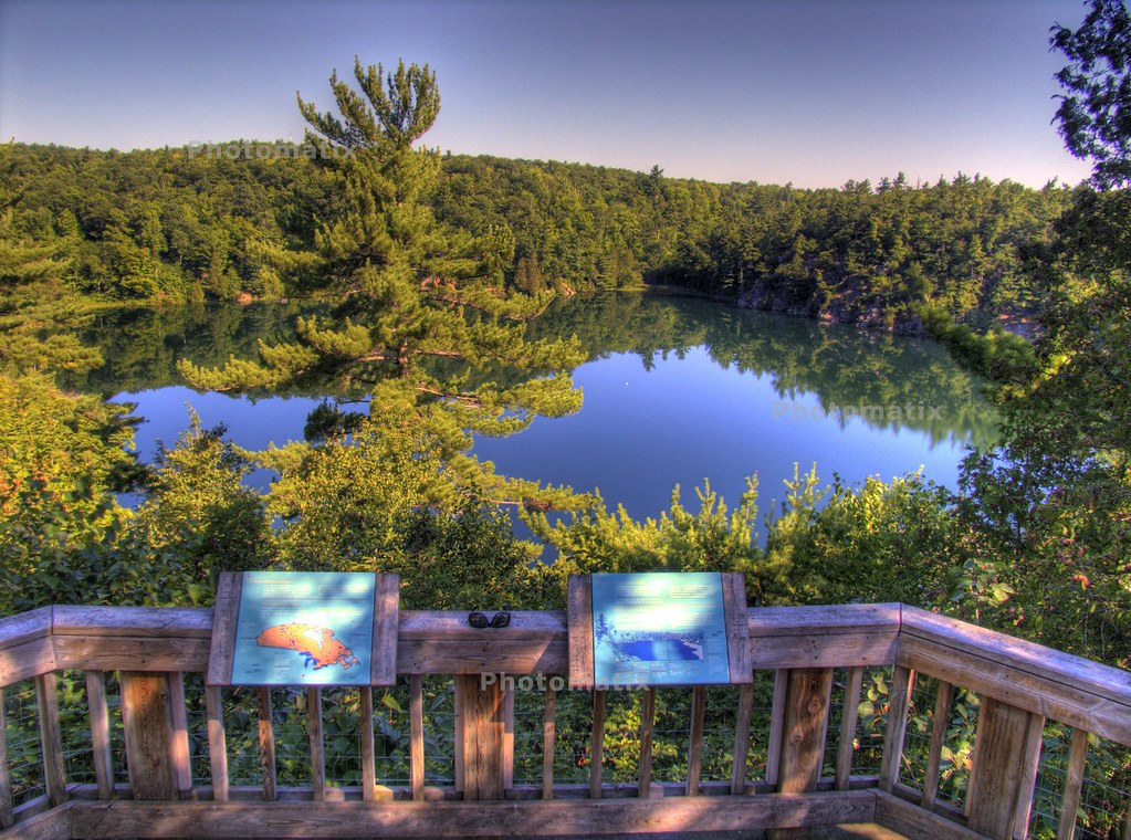 Pink Lake Observation Deck  Pink Lake Gatineau Park Quebe  Flickr