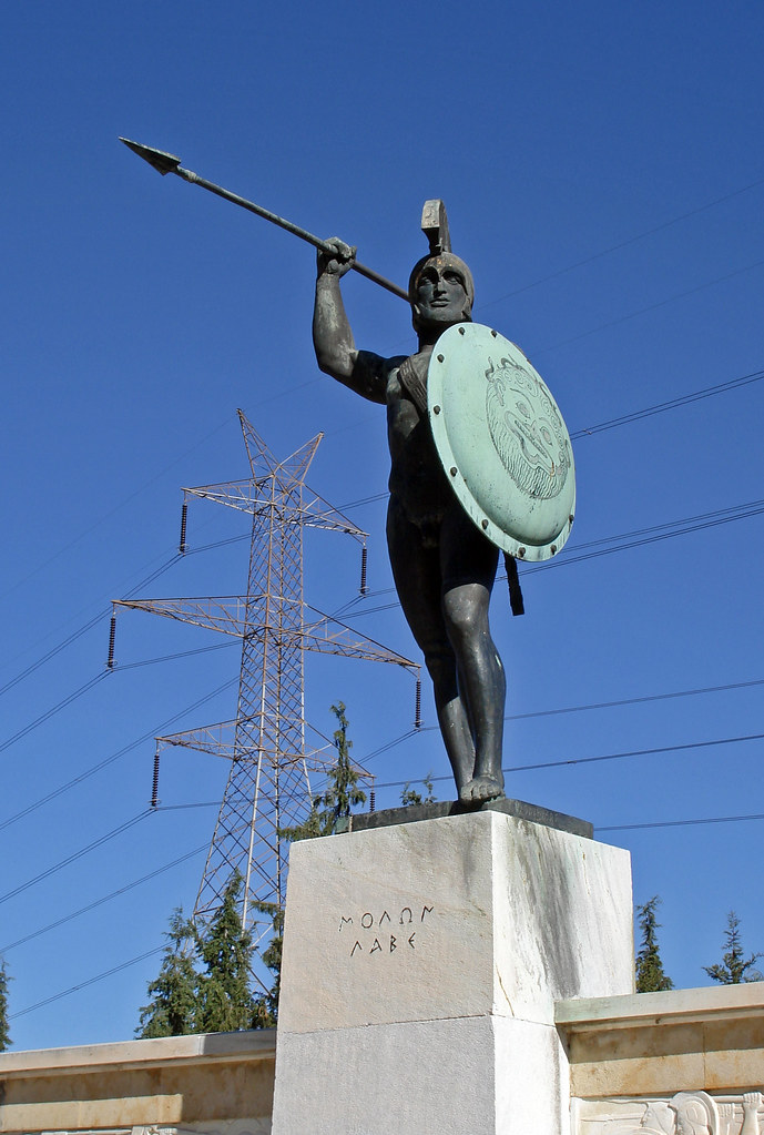Thermopylae  Monument of Leonidas  In the Battle of