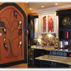 Pictures Of Custom Kitchen Cabinets Stores Black Cabinetry And Wine Tree | These Mix ...