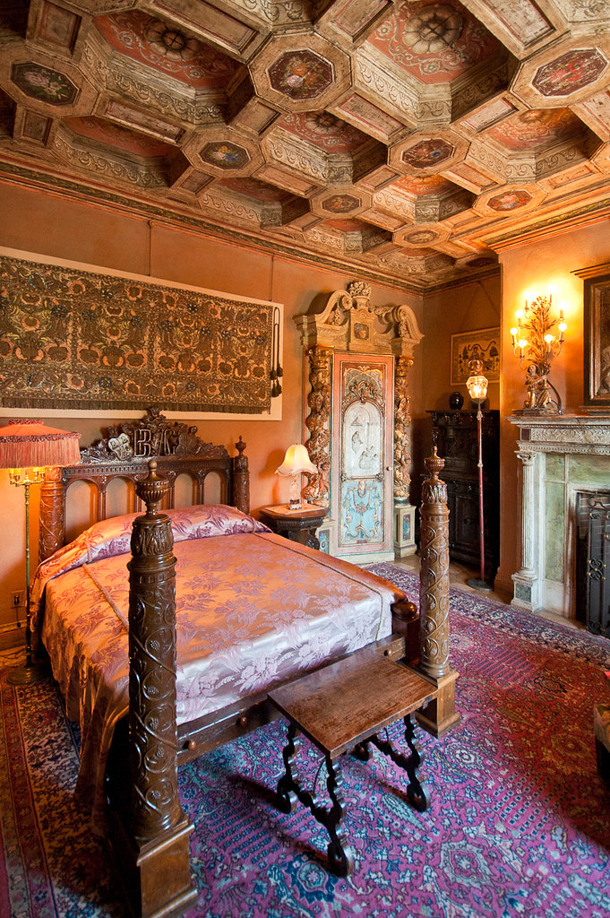 Hearst Castle Bedroom  One of the many richily decorated be  Flickr