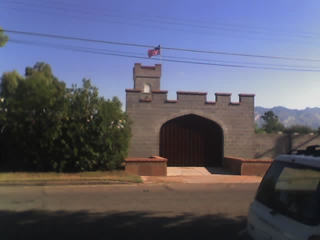 CastleFortress House In Tucson I See This When I Walk