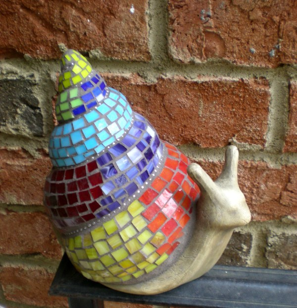 Stained Glass Mosaic 3- Snail In 35 Alpharetta
